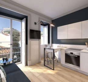 Development of new apartments in Baixa Lisbon, Rossio square. 1 -3 bedrooms from €450,000-€625,000