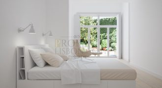 Av Liberdade unique light 3 bed with 70sqm private Garden, Pool and secure parking