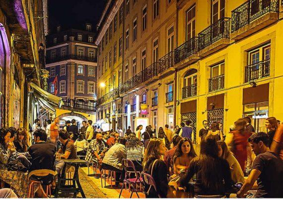 Amusement nocturne au Portugal