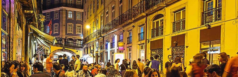 Diversão nocturna em Portugal