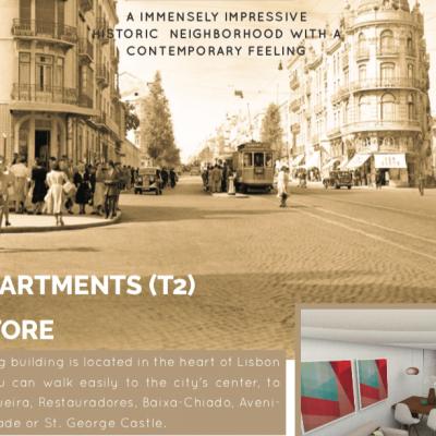 Reduced cost 350,000 renovation Golden visa Lisbon city Baixa