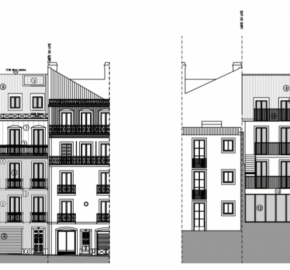 Building for renovation next the Avenida da Liberdade – Project approved with issued license