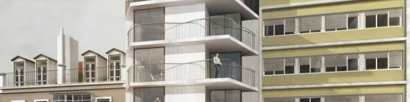 Brand new development located in Alcântarawith terraces