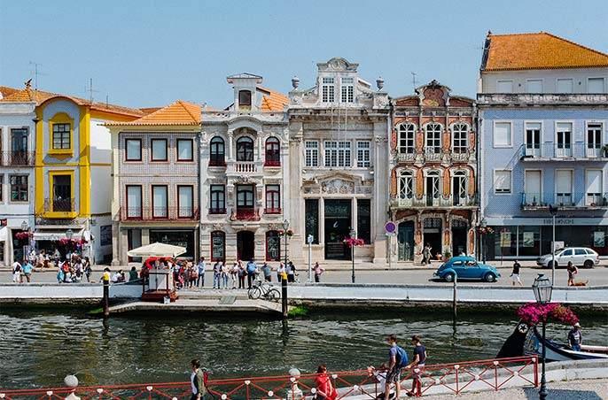 A town on the river in Portugal.