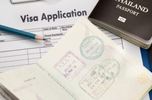 Portugal golden visa application and passport.